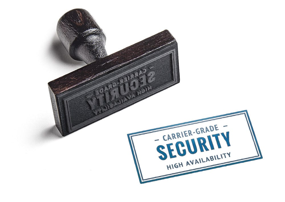 Carrier-grade security and high availability